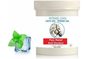 Intense Cryo Gel for Horses and Pets ● Professional Triple Action Formula Cooling Gel ● Muscle Rub Gel ● by bleu & marine Bretania, 500 ml