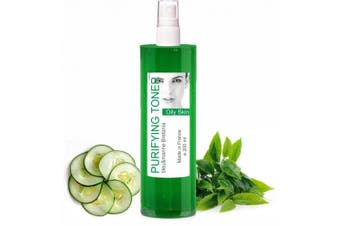 Green Tea Oily Skin Anti Blemishes Purifying Facial Toner 200 ml Mist - Alcohol free Tonic Lotion Made in France by bleu & marine Bretania