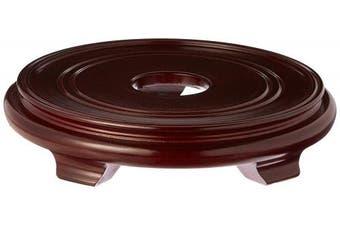 (28cm  Inside Diameter) - Oriental Furniture Rosewood Pedestal Stand -
