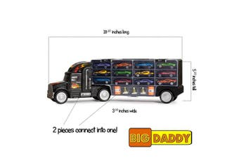 (20 Inch Super Duty Truck) - Big Daddy Tractor Trailer Car Collection Case Carrier Transport Toy Truck For Kids