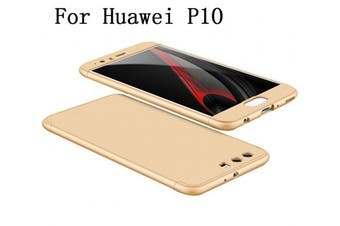 (Gold) - Huawei P10 Case 360 Degree Protection 3 in 1 Slim Cover Adamark Shockproof Shell Full Body Coverage Protection Protective Case For Huawei P10 (without Tempered Glass Film Protector)