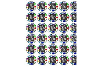 24 Teaching Assistant Edible Wafer Paper Cup Cake Toppers