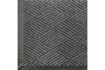 (0.9m Length x 0.6m Width, Grey Ash) - WaterHog Eco Commercial-Grade Entrance Mat, Indoor/Outdoor Black Smoke Floor Mat 0.9m Length x 0.6m Width, Grey Ash by M+A Matting