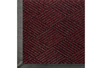 (0.9m Length x 0.6m Width, Maroon) - M+A Matting 2295 WaterHog Eco Premier PET Polyester Fibre Entrance Indoor/Outdoor Floor Mat, SBR Rubber Backing, 0.9m Length x 0.6m Width, 1cm Thick, Maroon