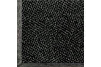 (0.9m Length x 0.6m Width, Black Smoke) - WaterHog Eco Commercial-Grade Entrance Mat, Indoor/Outdoor Black Smoke Floor Mat 0.9m Length x 0.6m Width, Black Smoke by M+A Matting