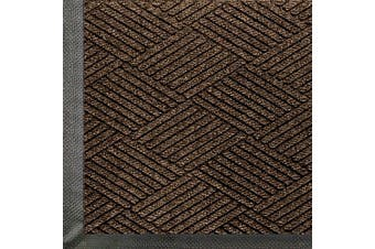 (0.9m Length x 0.6m Width, Chestnut Brown) - WaterHog Eco Commercial-Grade Entrance Mat, Indoor/Outdoor Black Smoke Floor Mat 0.9m Length x 0.6m Width, Chestnut Brown by M+A Matting