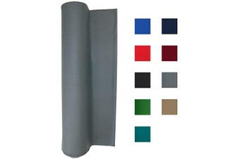 (For 2.4m Table, Light Gray) - Performance Grade Pool Table Felt - Billiard Cloth - for 7, 8 or 2.7m Table Choose English Green, Burgundy, Blue, Light Grey, Navy Blue, Black, Red, or Tan