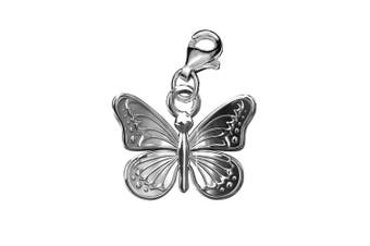 Genuine Silver Butterfly clip on charm pendant ideal for branded bracelet or necklace