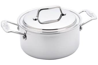 (2.8l Stock Pot) - USA Pan Cookware 5-Ply Stainless Steel 2.8l Stock Pot with Cover, Oven and Dishwasher Safe, Made in the USA
