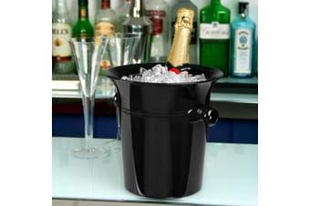 Acrylic Wine & Champagne Bucket Black - Acrylic Ice Bucket, Wine Chiller