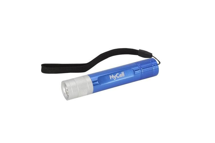 Hycell 5816723 Duo Led Flashlight And Aa Keylight Including Batteries, Aluminium,