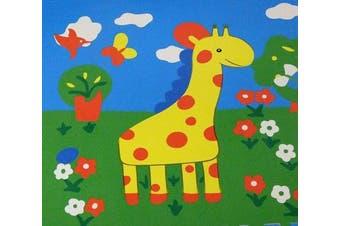 Allkindathings Soft Interlocking EVA Foam Four animals Floor Mats Baby Play Gym Nursery and Edges