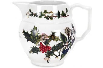 The Holly & Ivy Staffordshire Jug, Ceramic, Multi-Colour