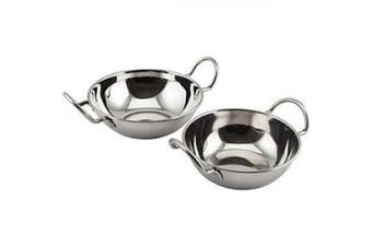 Genware Nev-bd13 Stainless Steel Balti Dish With Handle, 13cm
