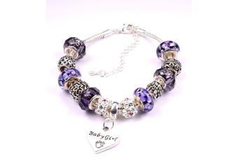 (purple) - Baby Girl' Charm Bracelet