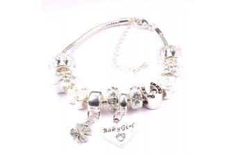 (silver) - Baby Girl' Charm Bracelet