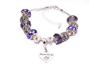 (Silver) - Charm Bracelet Special Gift for a Mum-To-Be