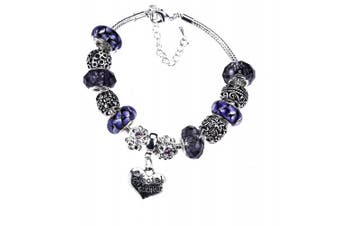 (Purple) - Charm Bracelet Special Gift for a Mum-To-Be