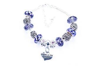 (Purple) - Charm Bracelet for Matron of Honour
