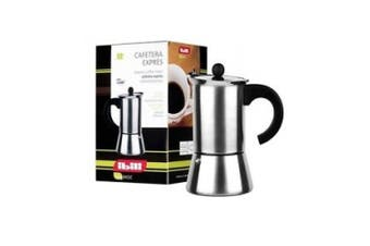 Ibili Indubasic Stainless Steel Espresso Maker for 2 Cups, also suitable for induction