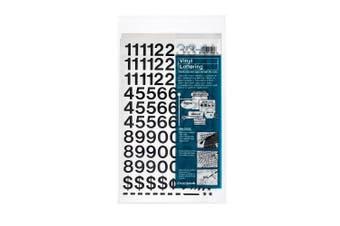(1.9cm  High, Black) - Chartpak Self-Adhesive Vinyl Numbers, 1.9cm High, Black, 222 per Pack (01120)