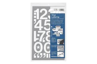 (5.1cm  High, White) - Chartpak Self-Adhesive Vinyl Numbers, 5.1cm High, White, 12 Numbers per Pack (01156)