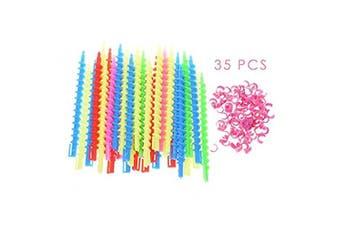 Coobar 35Pcs Plastic Barber Hairdressing Spiral Hair Perm Rod Salon Tool Durable