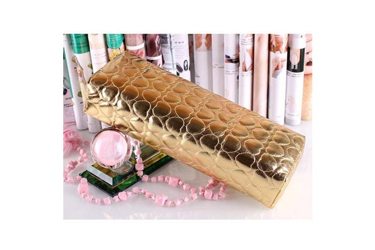 (Gold) - MEILINDS Soft Column Cushion Nail Pillow Salon Hand Holder Arm Rest Manicure Nail Art Accessories Tool