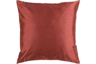 (60cm  x 60cm , Rust) - Surya HH-045 Hand Crafted 100% Polyester Rust 60cm x 60cm Solid Decorative Pillow