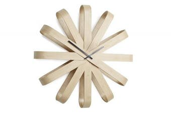 Umbra Ribbonwood Wall Clock, Natural - 118071-390