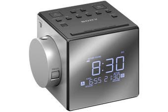 Sony Icf-c1pj Portable Analogue Clock Radio Alarm & Snooze Function Lcd Silver