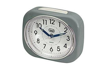 (Grey) - Trevi Retro Bedside/travel Alarm Clock With Led Backlight And Silent Sweep Hand,