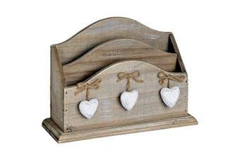 Hill Interiors Heart Letter Rack, Cream