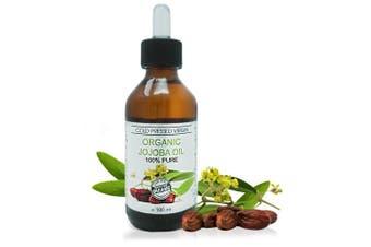 Organic Virgin Jojoba Oil 100% Cold Pressed Pure, Therapeutic Grade 100 ml
