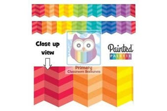 Painted Palette Rainbow Herringbone Border - Classroom Display Border