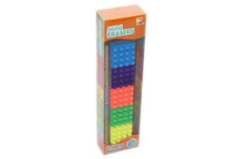 Building Block Construction Brick Erasers Novelty Pencil Rubbers For Children