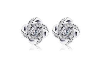 (1) - B.Catcher Earings for Woman Silver Earrings Studs Cubic Zirconia Gemini Sets