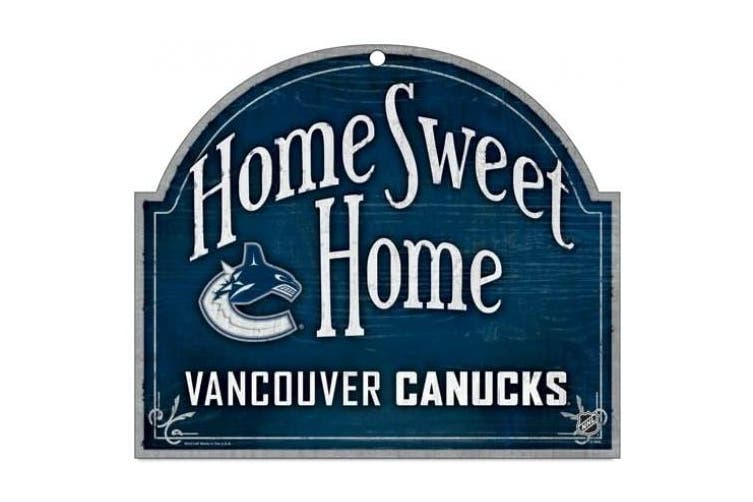(Vancouver Canucks) - NHL Wood Arched Sign