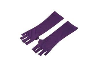 Anself 2 Pair Anti UV Glove Nail Art Protection Gloves for UV Light/Lamp Radiation