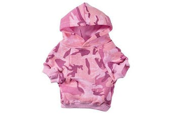 (XX-Large, Pink) - Casual Canine Cotton Camo Dog Hoodie