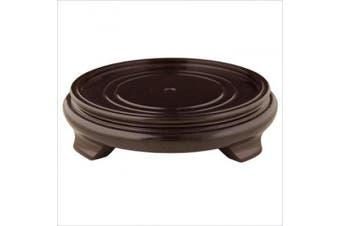 (14cm  Inside Diameter) - Oriental Furniture Rosewood Pedestal Stand -