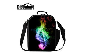 (Lunch1) - Creativebags Back To School Children Insulated Small Lunch Box Bag Tote Music Print