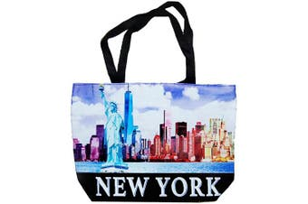 (NYC Clear Skyline) - New York City Skyline Designer Picture Large Souvenir Bags (NYC Clear Skyline)