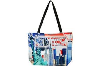 (New York USA) - New York City Skyline Designer Picture Large Souvenir Bags (New York USA)