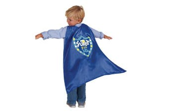 (Big Brother) - C.R. Gibson Blue 'Big Brother' Superhero Cape Children's Costume, 3pc, 60cm L