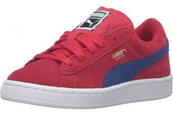 (11 M US Little Kid, Barbados Cherry/Mazarine Blue) - Puma Suede Classic Kids Sneaker