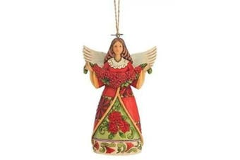 Heartwood Creek Poinsettia Angel Hanging Ornament