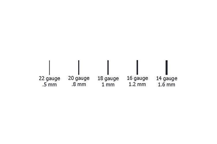 Length 7 0mm 20 Gauge 1 5mm Round Cut Diamond And 18k