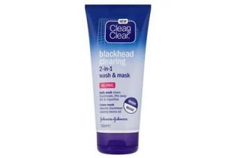 Clean & Clear Blackhead Clearing 2-in-1 Wash and Mask, 150ml