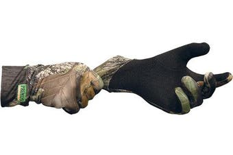 (Mossy Oak New Break-Up) - Primos Stretch-Fit Gloves with Sure-Grip and Extended Cuff, Mossy Oak New Break-Up